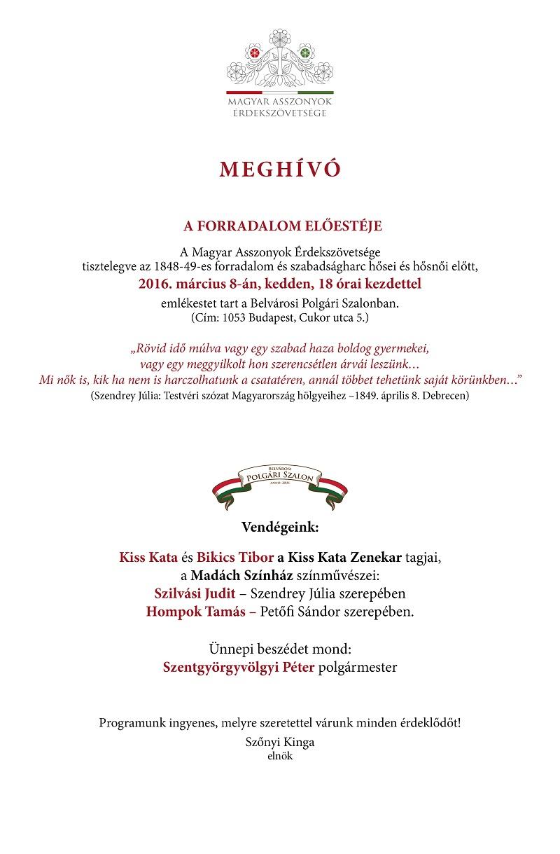 Meghívó_Magyar Asszonyok Érdekszövetsége